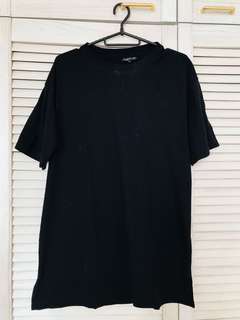 Topshop black tshirt dress
