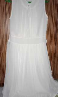 👗Chiffon White Dress
