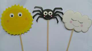 Incy Wincy Spider Sun Birthday Cake Cupcake Topper Party Supply