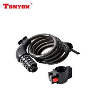 TonYon Password Lock -- 5 Numbers Safety Anti-Thief Cable Lock for Fixies / MTB / Road Bikes / Bicycles / Escooters / Ebike
