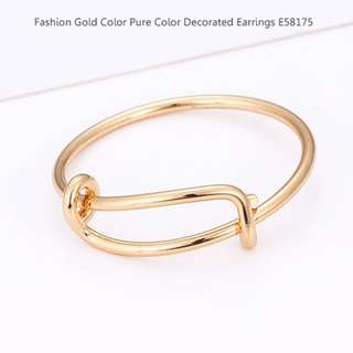 Fashion Gold Color Pure Color Decorated Earrings E58175