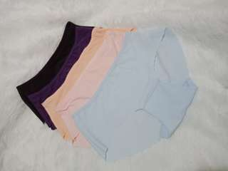 Semi seamless branded panty