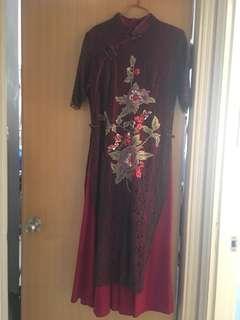 中式旗袍👘長身裙👗Chinese dress 奶奶衫 敬茶