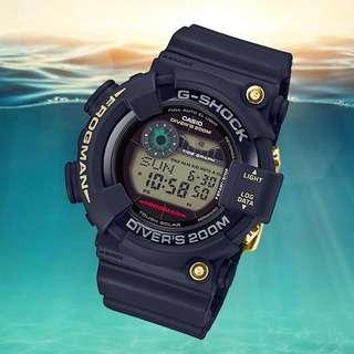 Limited Edition G-Shock 35th Anniversary Origin Gold Collection frogman GF-8235D-1B ( Screw Back ) gf8235 , gf8235d-1b