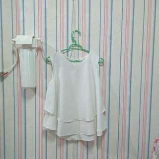 Zara Layer Top Baju Putih