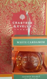 Crabtree & Evelyn Shower Bauble - White Cardamom