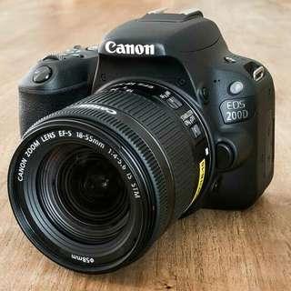 Kredit kamera Canon 200d