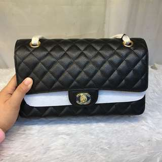 Authentic grade CHANEL CLASSIC DOUBLE FLAP (CAVIAR)