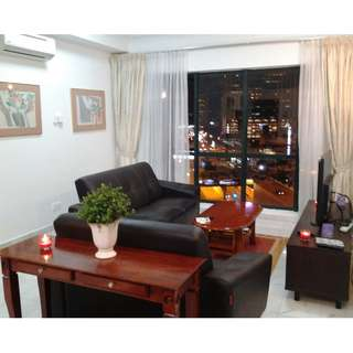 Staycation KL Apartment next to Double Tree Hilton hotel @ Ampang Park LRT/MRT near to KLCC petronas twin tower