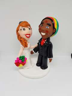 Customise polymer clay wedding figurine - cake topper