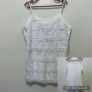 White Inner Sleeveless
