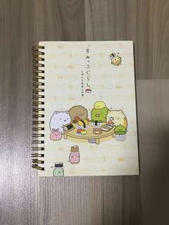 🎈BNIP INSTOCK Sumikko Gurashi A5 Notebook with Gold Binder