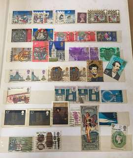 Old Stamps, around the world -1960's-70's! 3 books n a box full.
