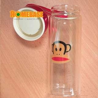 HOMEBASE DOUBLE LAYER CRYSTAL GLASS TUMBLER - 360ML *MONKEY