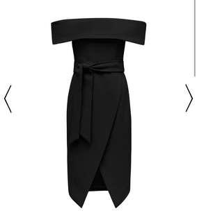 Bianca Bardot Tie Waist Dress