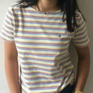Anchor stripes shirt