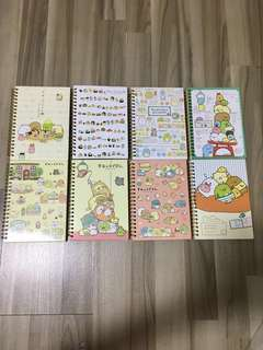 🎈BNIP INSTOCK Assorted Sumikko Gurashi A5 Notebook with Gold Binder [FREE NORMAL MAILING ✉️ ]