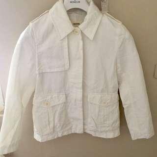 🚚 日本品牌 Tomorrowland 日本製 棉麻 外套 學院 米白色 復古 海軍 休閒 法式 極簡 lvy