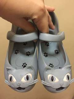 Authentic Mini melissa blue cat shoes