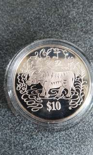 1997 Uncirculated $10 coin (Ox year)