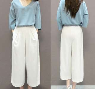 2 PIECE V-Neck Shirt with Pants