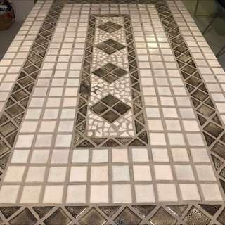 Beautiful mosaic tile outdoor table and 6 chair set