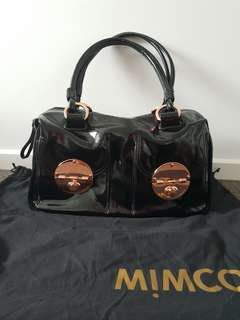 Mimco rosegold large turnlock bag