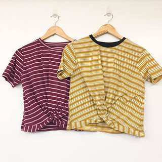 Stripes Twisted Top