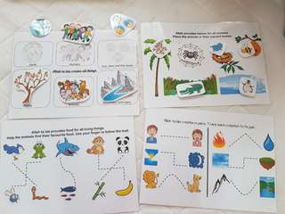 Learning activity kit for Muslim toddlers