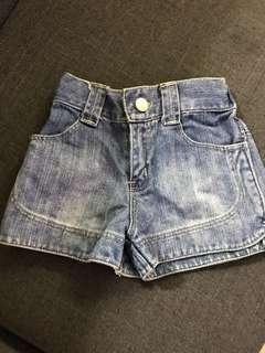 SM basic denim maong shorts 2y