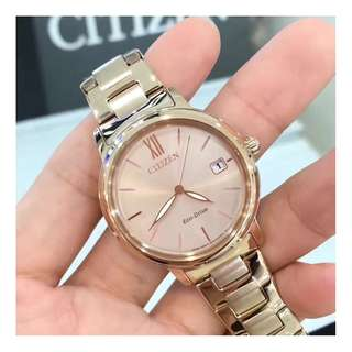 【負法律責任】女錶星辰CITIZEN 光動能女腕錶 基隆大錶哥 FE6093-87X Eco-Drive