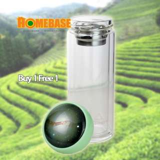 HOMEBASE QUALITY GLASS DOUBLE CRYSTAL LAYER TUMBLER 300ML ASSORTED DESIGN