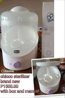 CHICCO STERILIZER ✅ Brandnew ✅ with box and manual ✅ 1-2days reservation only ✅ affordable price ✅ tested P 1500.00 last price :)
