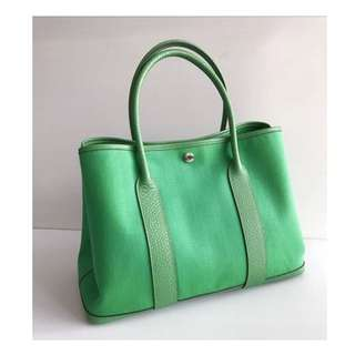 Authentic Hermes Garden Party 36 Bamboo