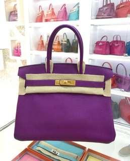 💜 愛馬仕 Birkin30 P9 海葵紫💜 絕版了 現在只有VIP才能定制的顏色了,就是顯的尊貴🔥現貨 好價秒