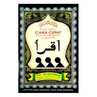 Buku Iqro' Hitam - Cara Cepat Belajar Membaca Al-Qur'an