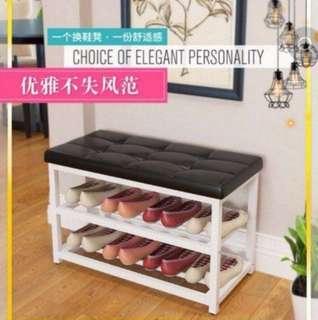Good quality cushion top shoe rack