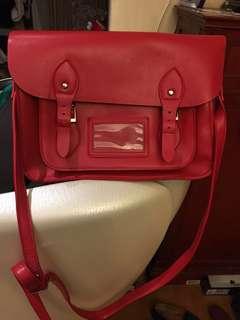 紅色 satchel