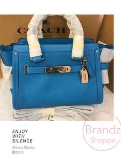 🔥Hot Item! 💯% Authentic Coach Women Medium Swagger 27 @ Sky Blue >> READY STOCK!!!