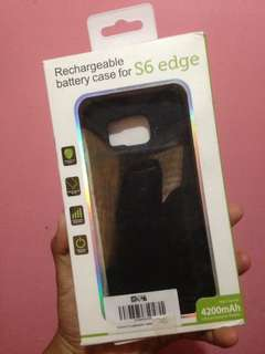 Rechargeable Battery Case for S6 Edge