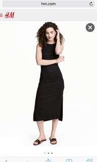 BNWT H&M Long Black Dress