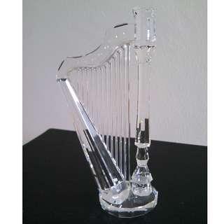 61 Swarovski Crystal - Harp (Signed)