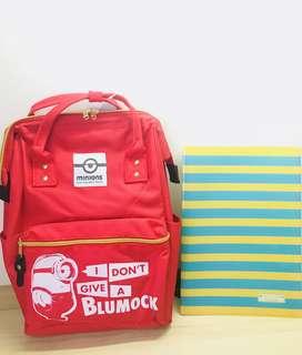 Minions - Clasp Backpack RED (TOREBA JAPAN)