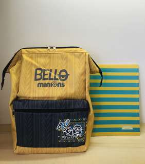 Minion Clasp Backpack (Knitted Style) YELLOW (TOREBA JAPAN)