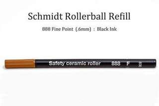 Brand new Schmidt Safety Ceramic Roller 888 F refillable ink - non dry refill (Black)