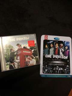One direction take me home album + up all night the live tour dvd