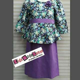 Kurung Peplum purple