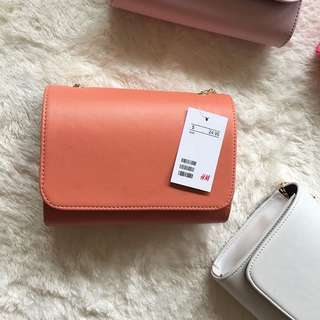 H&M mini clutch peach