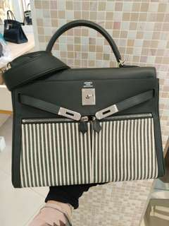 Hermes kelly 35 lakis x stamp