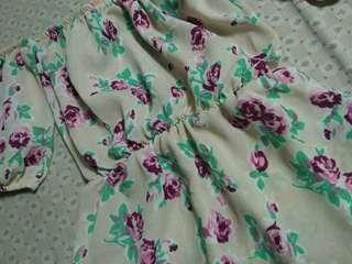 Odf shoulder dress